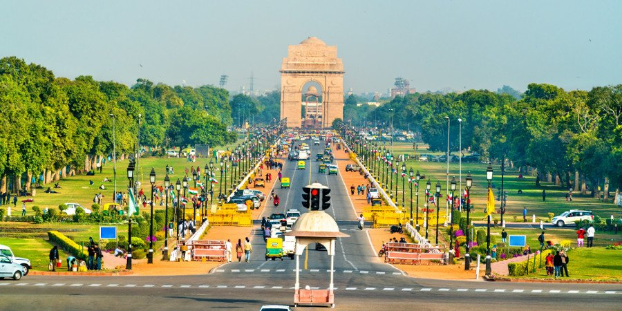 New Delhi: Il Rajpath Ceremonial Boulevard